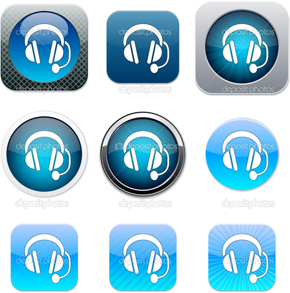 Call Center Icon Blue