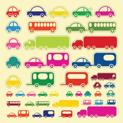 Car Bus Truck Vectors