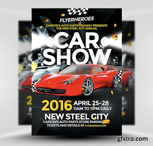 13 Car Show Flyer Template PSD Images
