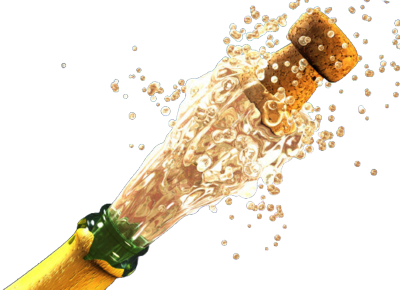 Champagne Bottle Popping PSD