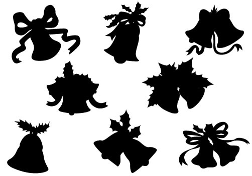 Vector silhouette christmas ornament images