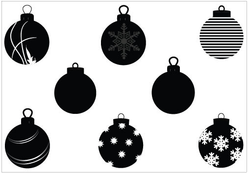 17 Vector Silhouette Christmas Ornament Images