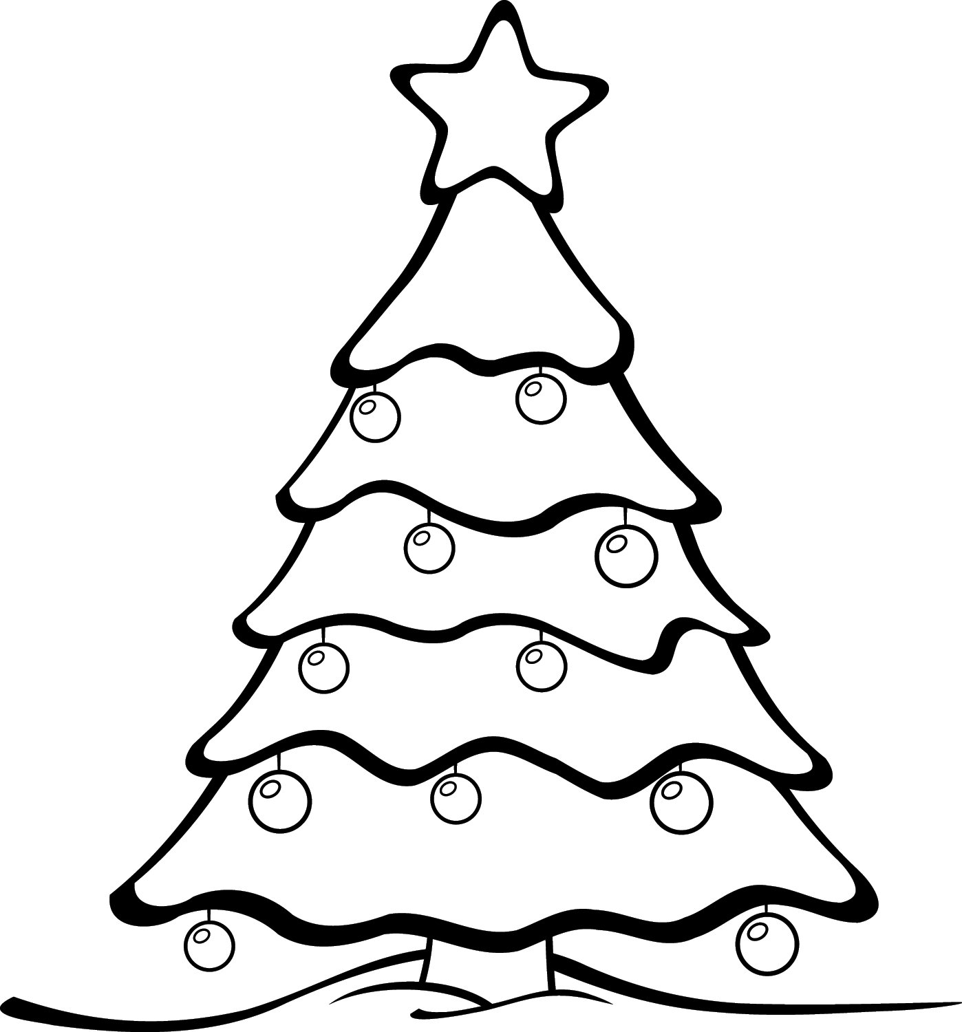 15 Black And White Christmas Graphics Images