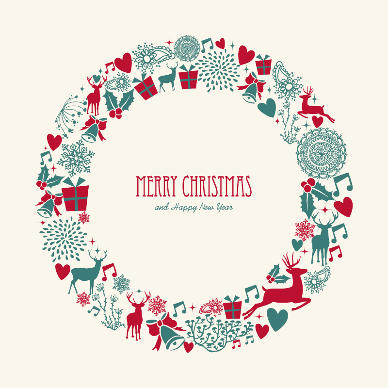 Christmas Wreath Silhouette Vector.20 Free Vector Christmas Garland Images Christmas Wreath