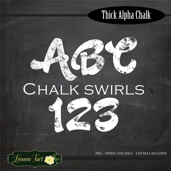 Chunky Alphabet Letters Fonts