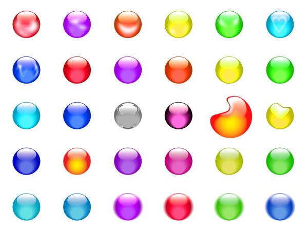Colors 3D Transparent Icons