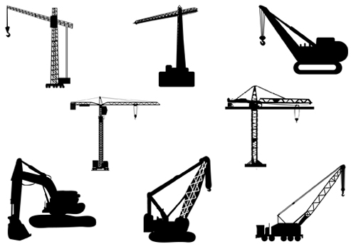 14 Crane Vector Icons Images
