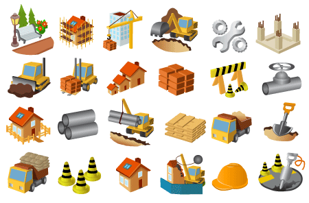 Construction Icons Vector Free