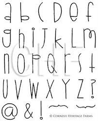 Cool Handwriting Fonts Alphabet