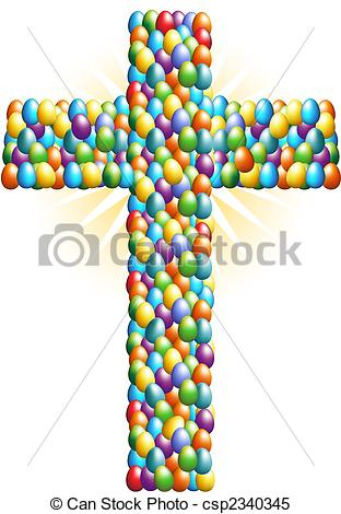 Cross Easter Egg Clip Art