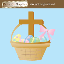 Cross Religious Easter Eggs