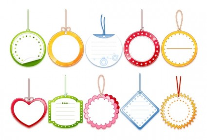 Cute Blank Tag Label Templates