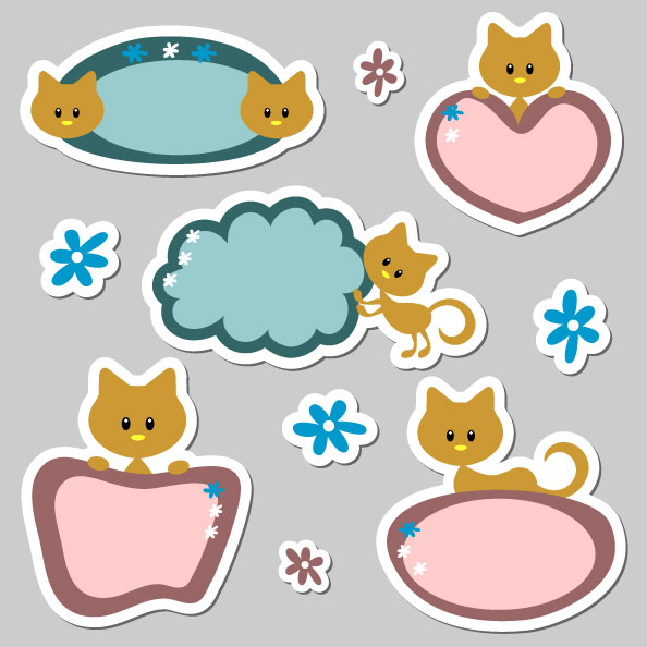 18 Cute Label Vector Images