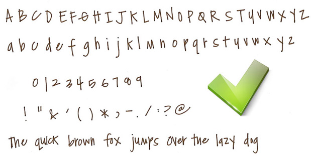 16 Cute Handwriting Alphabet Fonts Images - Cute ...