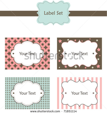 18 cute label vector images cute cartoon vector free download labels with ribbon vector and. Black Bedroom Furniture Sets. Home Design Ideas