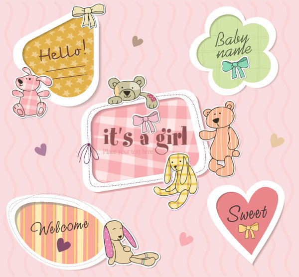 Cute Vector Frame Label