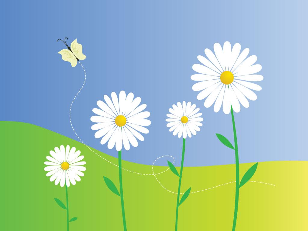 13 Vector Beautiful Flower Clip Art Images