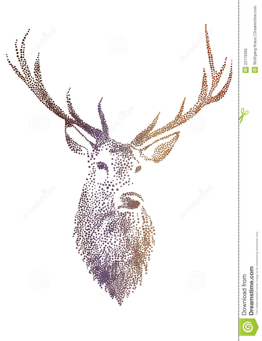 Deer Head Vector Free