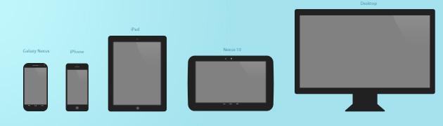 Desktop for iPad iPhone PSD Template