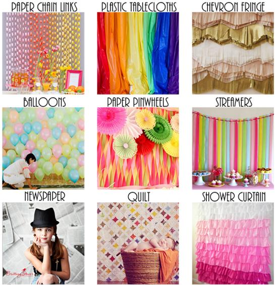 DIY Photo Booth Backdrop Ideas