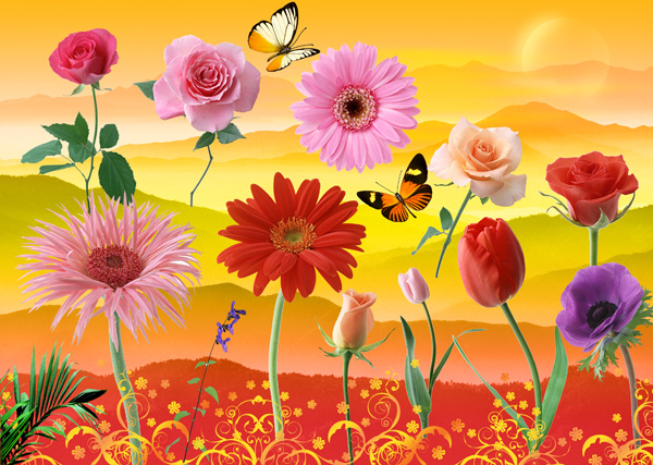Flower PSD Files