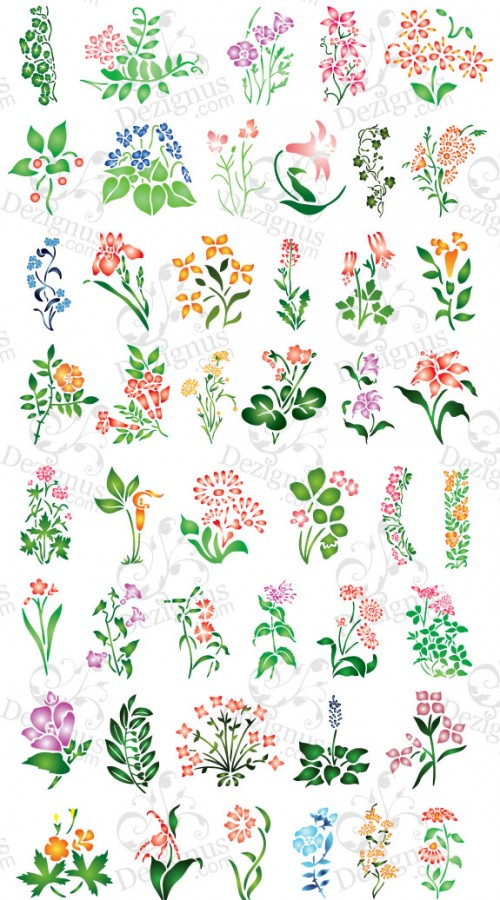 17 Simple Floral Design Flower Vector Images