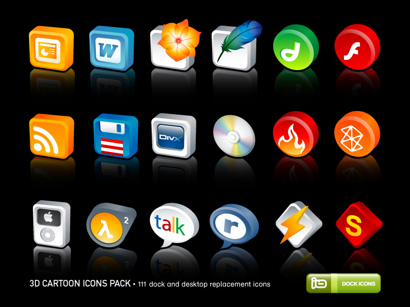 14 Windows 3D Icons Pack Free Images