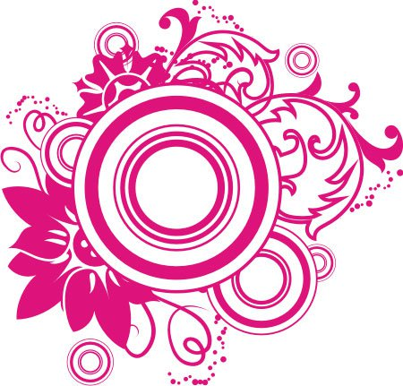 13 Pink Swirl Vector Graphics Images