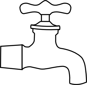 Free Clip Art of Water Faucet