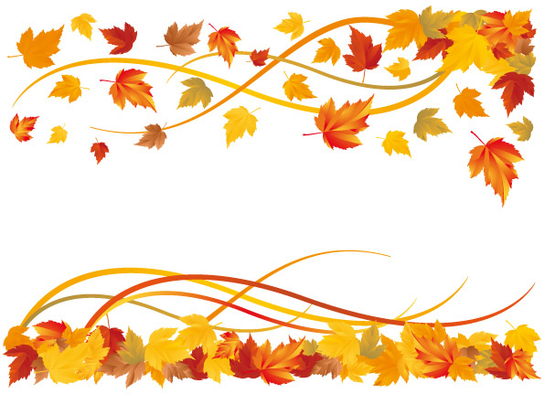 18 Fall Leaves Border Vector Images