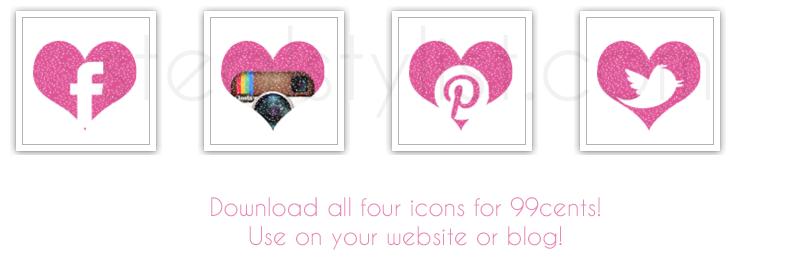 Free-Girly-Social-Media-Icons