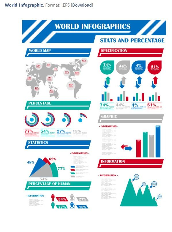 Free Infographic PowerPoint Template