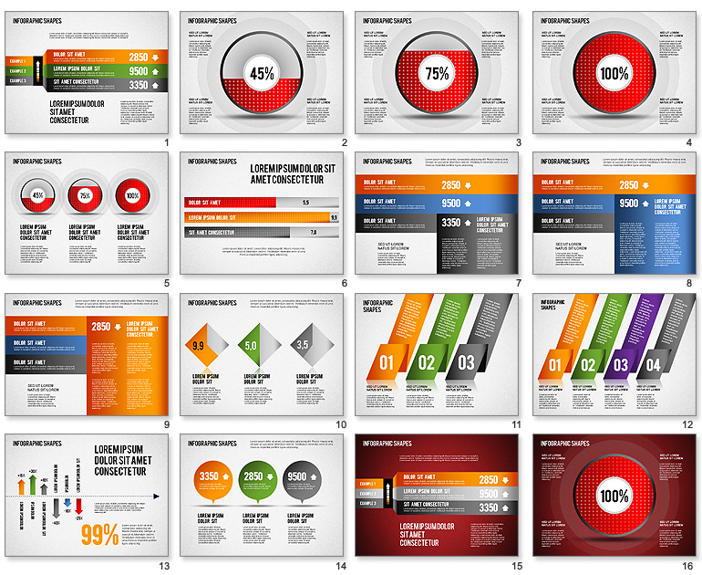 Infographic template free powerpoint