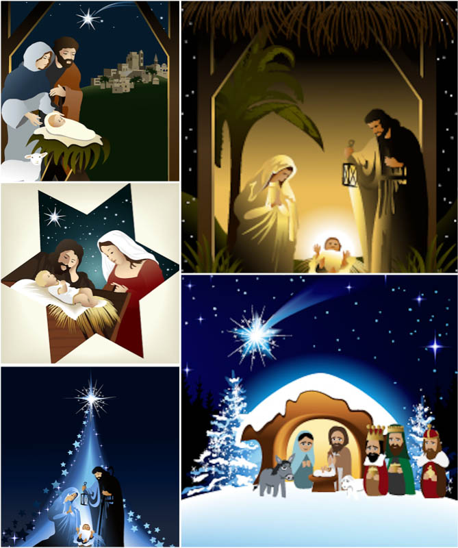 7 Christmas Nativity Vector Images
