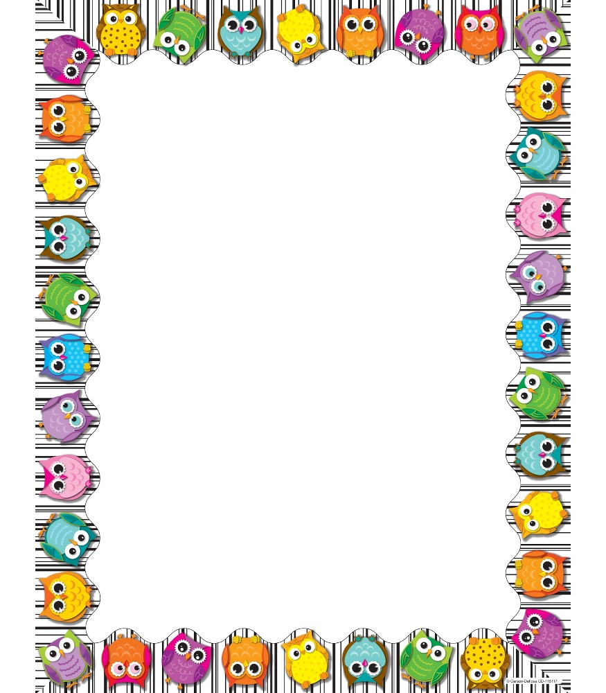 Free printable border designs for paper - 17 Colorful Border For Paper Designs Images Free Owl