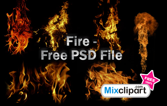 13 Fire PSD Transparent Images