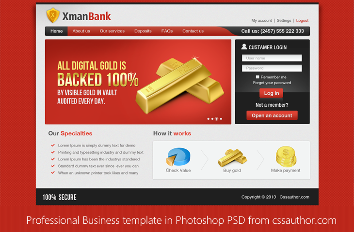 Free Photoshop PSD Templates Download