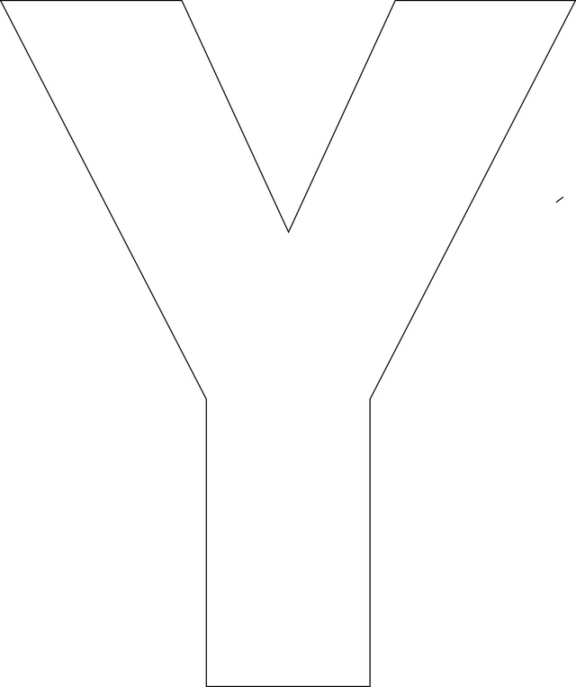 Free Printable Alphabet Letter Templates Y