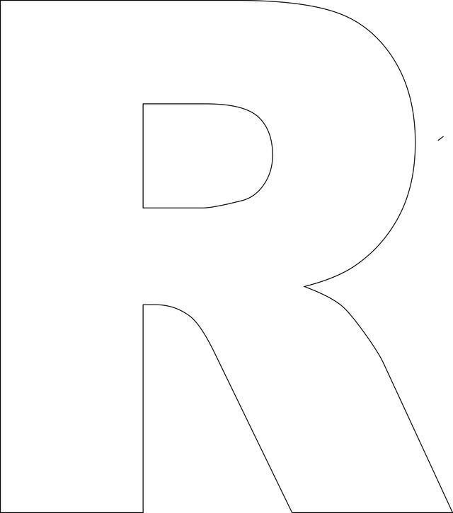 Free Printable Alphabet Templates Letter R