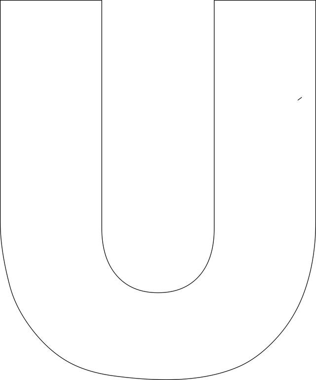 Free Printable Alphabet Templates Letter U