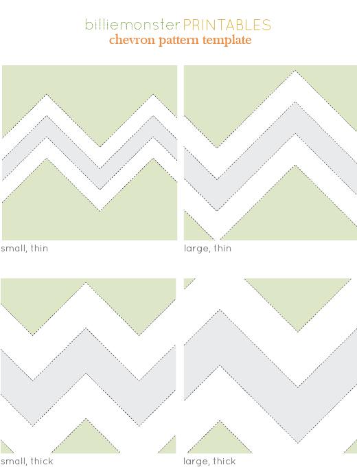 Free Printable Chevron Pattern Template