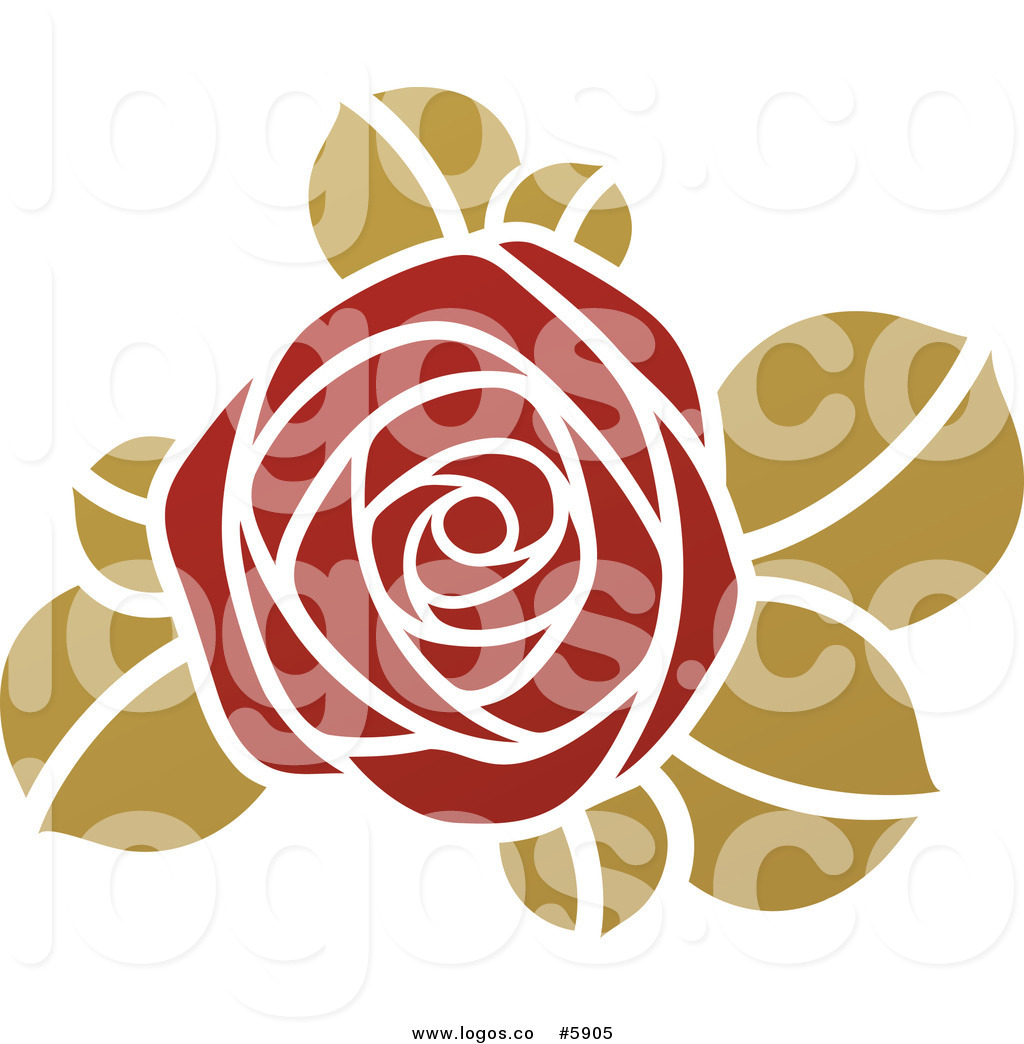12 Green Rose Vector Images