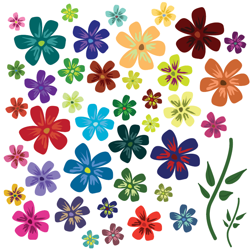 16 Springtime Floral Vector Graphics PNG Images