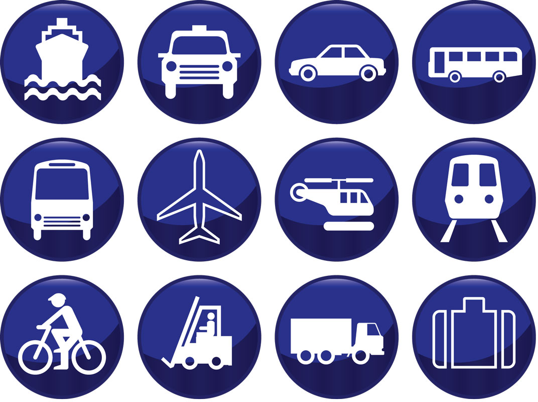 14 Blue Transportation Icons Images