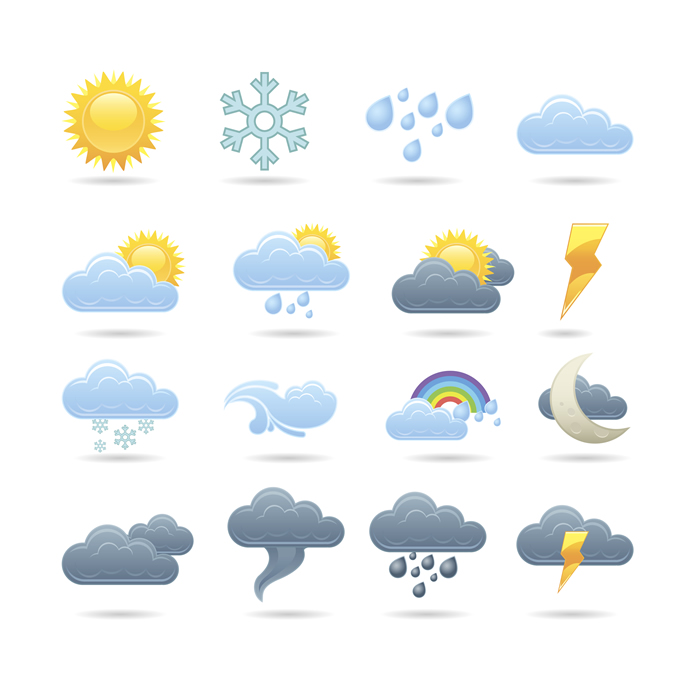 14 Free Weather Forecast Icons Images