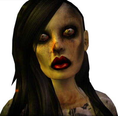 12 Zombie Girl PSD Images
