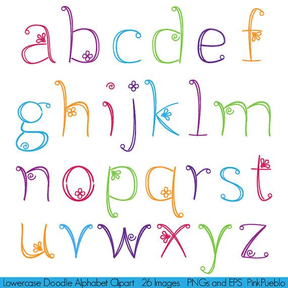 16 Cute Handwriting Alphabet Fonts Images