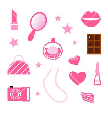 Girly Social Media Icons
