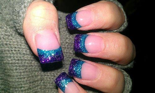 Glitter Acrylic Nails Tumblr