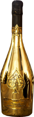 Gold Champagne Bottle PSD